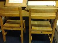 Vintage children's school double desk