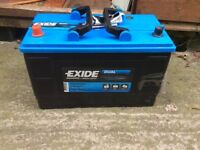 12volt battery exide dual er 550
