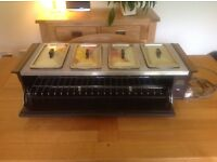 Electric hot food serving tray 'Echo Hostess'