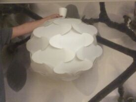 "White ceiling lamp from IKEA "" Fillsta"" all constructed and ready to go !!"
