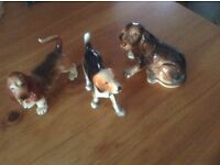 3 ornamental dog ornaments only £15 for 3