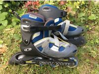Rare adjustable Salomon inline skates for children with shoe size 1.5-4.5