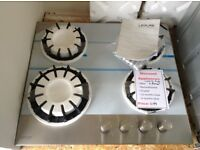 Leisure 4 ring gas hob. New/graded 12 month gtee