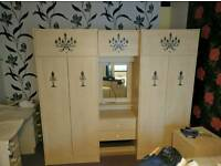 WARDROBES WITH MIRROR AND 2 SIDE DRAWS