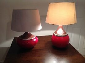 ** Reduced** Table lamps x2