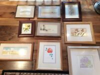 Selection of watercolour paintings & prints
