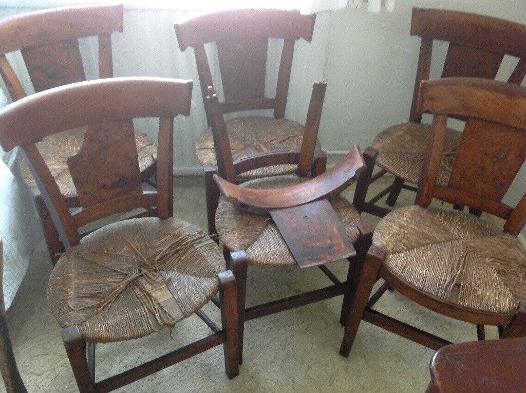 Antique Dark Wood Chairs In Need of TLC - Antique Dark Wood Chairs In Need Of TLC In Havant, Hampshire Gumtree