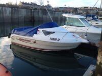 Boat cabin cruiser Quicksilver 510, 40hp merc, superb