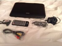 Bush 10 inch portable DVD player with accessories excellent condition