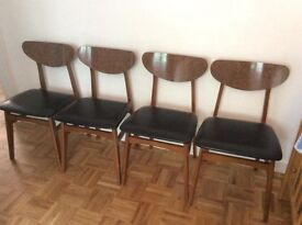 4 mid century modern style dining chairs