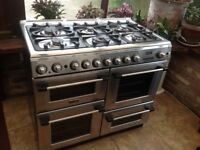 Canon range cooker 100cm wide.stainless steel.gas hob electric ovens