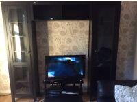 Black large cabinet/TV stand