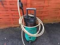 BOSCH Aquarak 120i pressure washer. Max rated flow 6.0 l/pm 230 v. Great machine. Can test it out.