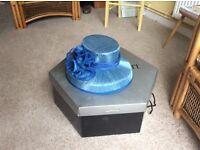 Turquoise blue wedding hat