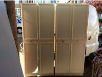 Two double wardrobes, like new, could deliver