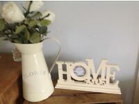 Wooden home sign with photo frame