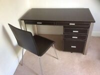 Home office desk , cabinet and chair