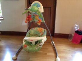 Large Fisherprice Rainforest Canopy Cradle Swing - saved my life!!