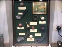 Vintage golf collection display