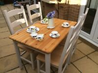 Beautiful Solid Pine Dining Table And Chairs
