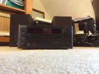 Onkyo cr-545ukd cd receiver and speakers