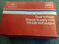 £5 ONO FOR UNUSED AND BOXED MK DUAL VOLTAGE SHAVER SOCKET