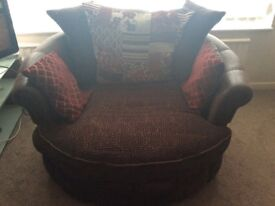 Cuddle swivel chair cost £400 new scs
