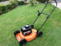 FLYMO KL50 Petrol mulcher/Lawnmower. Briggs&Stratton Sovereign 375 engine. 21 inch cut. Good order.