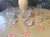 Beautiful Crystal Cut Glass Collection