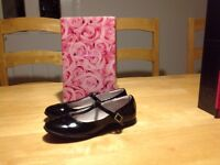 Girls Patent Leather Lelli Kelly Ballet Serenity Shoes size 32 - UK 13