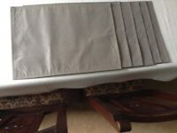 silver grey fabric placemats x 6 Excellent condition,