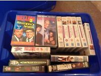 Box load of video tapes 30+