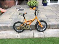 Boys 14 inch dinosaur bike