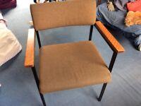 Tan Sad office arm chair