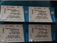 4 x Standing tickets for The Stone Roses at Hampden park 24th june 2017
