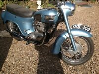 1963 Triumph 21 motorcycle 350cc twin