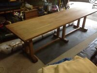 Oak Refectory Dining Table