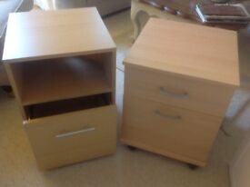 Filing cupboards and bookcase