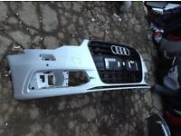 AUDI A6 BLACK EDITION FRONT BUMPER 2012-2015 FOR SALE DAMAGED