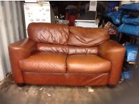 Leather settee plus two armchairs,free gratis,