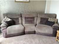 Nelson 4 Seater Power Recliner Sofa