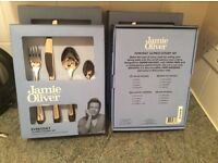 Jamie oliver 16 piece high polished cutlery set. 4 boxes available, brand new.