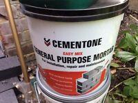 Unused Tub of Mortar mix