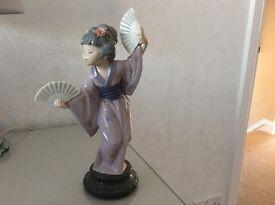 Genuine Lladro Japanese lady