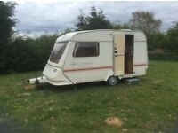 2 berth Abbey Lincoln Caravan – with awning & everything needed to hook up and use.