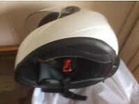 Motor cycle helmet.