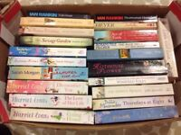 Box of fiction books...all easy reads.