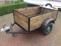 Reconditioned garden trailer