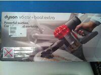 DYSON V6 HANDHELD CORDLESS VACCUM ..CAR & BOAT EXTRA.2YR WARRANTY..NEW.