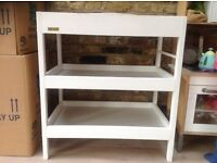 East Coast white changing table with towel rail
